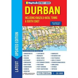 DURBAN Street Guide including KZN Towns & South Coast 11th edition + Bonus visitor's guide