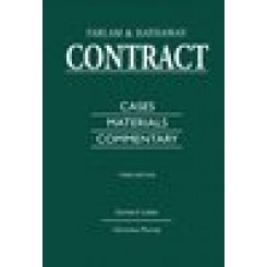 Contract:Cases, Materials and Commentary